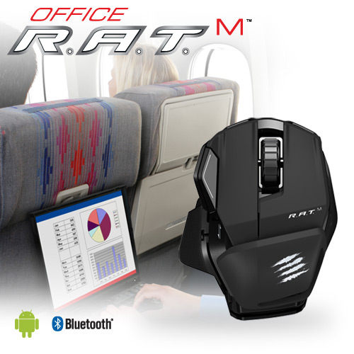 mad catz マッドキャッツ r a t sup m sup wireless mobile mouse