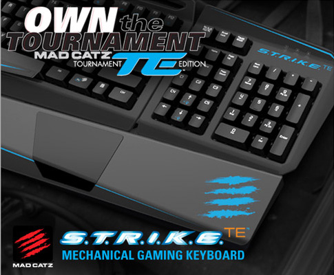 Mad Catz S.T.R.I.K.E.<sup>TE</sup> Tournament Edition Mechanical Gaming Keyboard
